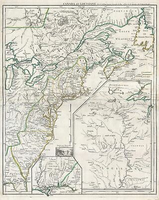 1755 Le Rouge Map of the English Colonies in North America (Eastern Seaboard)