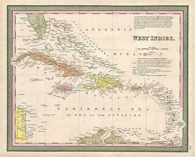1849 Mitchell Map of the West Indies