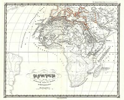 1855 Spruner Map of Africa up to the Arab conquests in the 7th century