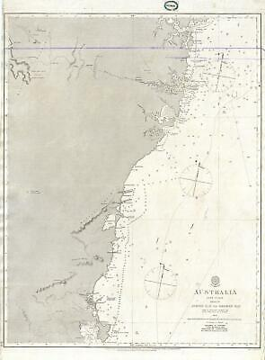 1865 John Lort Stokes Admiralty Chart or Map of Eastern Australia (Sydney)