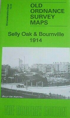Old Ordnance Survey Maps Sell Oak & Bournville Worcestershire 1914 Godfrey Edt