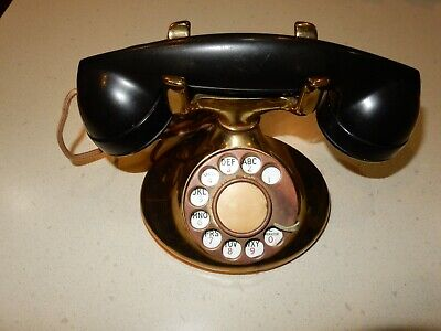 Vintage Western Electric Brass Rotary Telephone