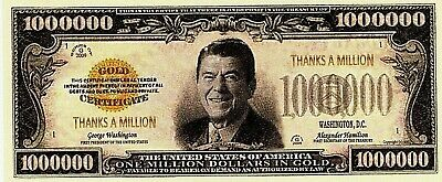 Thanks a Million Bank Bill Note Put in Thank You Card Appreciation for your help
