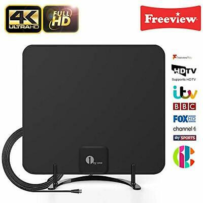 1byone Freeview TV Aerial with Stand - HDTV Antenna with Excellent Performance,