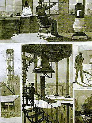 WINSLOW HOMER WATCH TOWER NYC 1874 Antique Print Matted