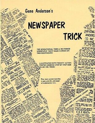 Magic Tricks Water In Newspaper Illusions Magic Trick Products Paper toy ODCA