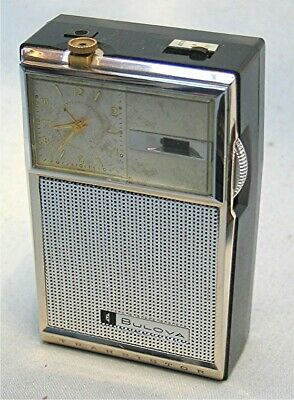 Vintage Bulova Transistor Radio working - Clock not working