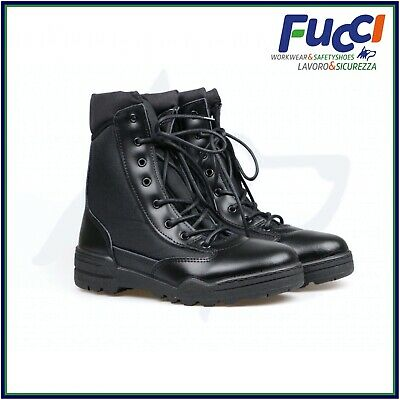 Vantech Anfibi Stivali Magnum Uomo Donna Leather Boot Militari Made in Italy