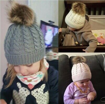 Toddler Kids Girl&Boy Baby Infant Winter Warm Crochet Knitted Hat Beanie Cap