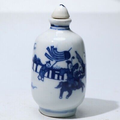 Snuff Bottles,Chinese Exquisite porcelain carved snuff bottle