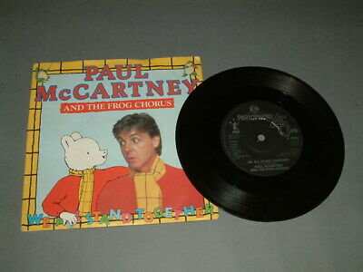 """Paul McCartney And The Frog Chorus : We All Stand Together : 7"""" Vinyl : 1984"""