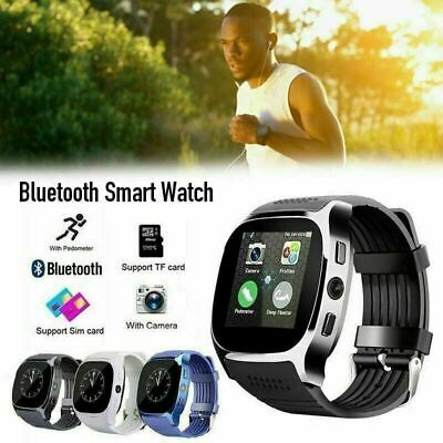 T8 Smart Watch Bluetooth SIM & TF Card With Camera Sync WristWatch Android iOS