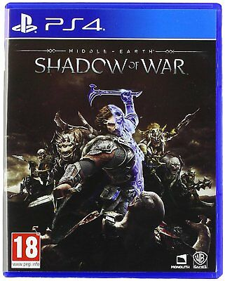 Middle Earth Shadow of War PS4 for Sony PlayStation 4 NEW SEALED