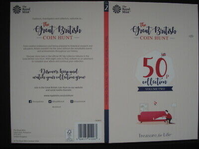 Royal Mint The Great British Coin Hunt 50p Volume 2 Collector Album Folder NEW.