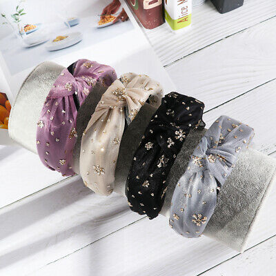 Bohemian Gold Glitter Knotted Hairband Knot Headband Hair Accessories Head Band