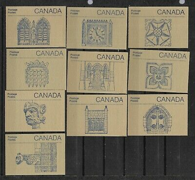 pk45780:Stamps-Canada Lot of 10 #BK96a Parliament Booklet Set of 10 - MNH