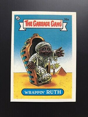 The Garbage Gang Wrappin' Ruth 36a 1985 Card Sticker Vintage