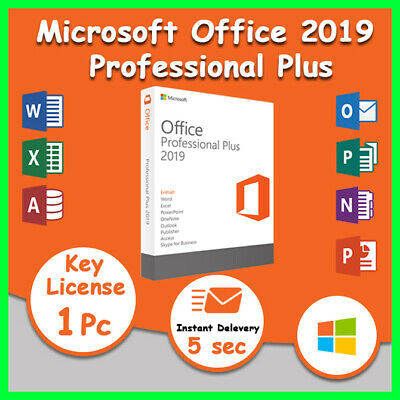 Microsoft Office 2019 Pro Plus Digital License Key for 1PC Official Download