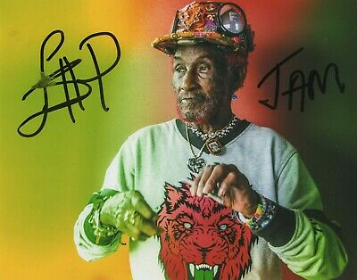 Lee Scratch Perry REAL hand SIGNED Photo #3 COA Bob Marley Wailers Producer