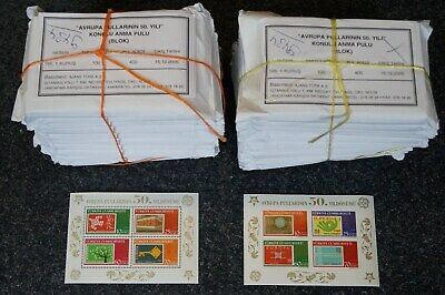 2,000 SOUVENIR SHEETS TURKEY 50 years Europe CEPT 2005 ** MNH - perforated & imp