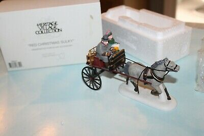 Dept 56 Heritage Village Red Christmas Sulky #58401 Accessory w//Box