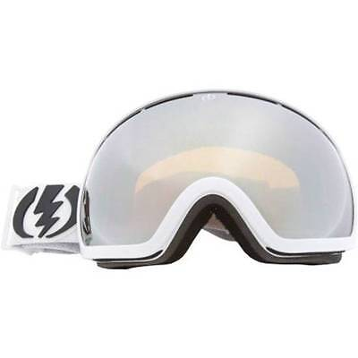 NEW ELEKTRISCH EG2 GOGGLES Gloss White/Bronze-Silver Chrome Mirror Lens Ski Snow