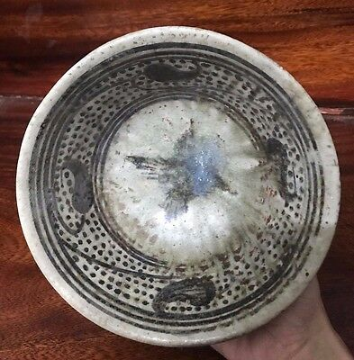 ANTIQUE  14thc  THAI SAWANKHOLAK  SUKHOTHAI   PETAL DESIGNED  BOWL   #