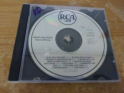 Ronnie Milsap Heart And Soul Blue Eyed Soul Country Music Cd Album Disc Bmg 1987