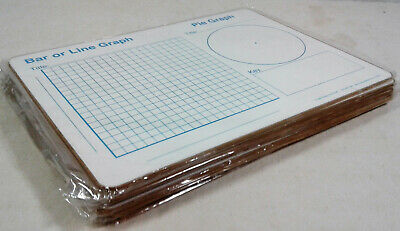 Lot/8 Really Good Stuff Dry-Erase Board Math Graphs Fractions Story Organizer