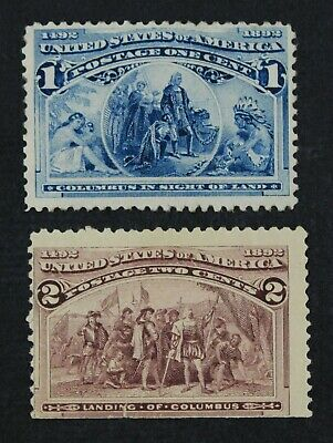 CKStamps: US Stamps Collection Scott#230 Unused Regum, #231 Mint NH OG