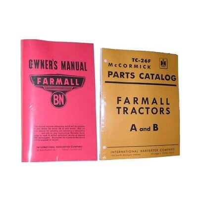 FARMALL BN OWNERS PARTS TC26F Catalog 2 Farm Manual Set