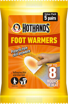 Hot Hands Feet Foot Toe Insole Heat Warmer Pack Of 5
