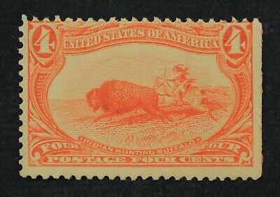 CKStamps: US Stamps Collection Scott#287 4c Mint H OG Thin