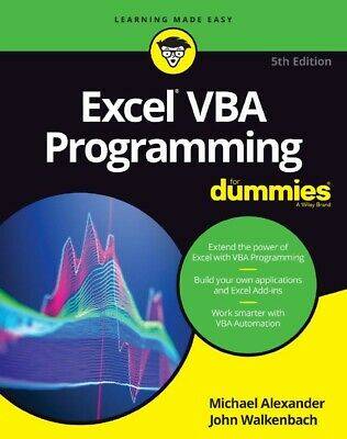 Excel VBA Programming For Dummies 5th Edition PDF Only