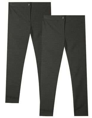 NEW GIRLS EX DEBENHAMS GREY SLIM FIT EASY IRON SCHOOL TROUSERS Age 16 years GT5