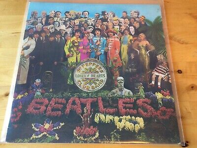 Beatles - Sgt Peppers Lonely Hearts Club Band Vinyl Record Orange Label