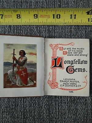 Antique books 1800's Longfellow gems. Late 1800's? Early 1900's?