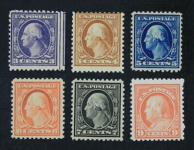 CKStamps: US Stamps Collection Scott#501/509 Mint 5H OG, #509 NH