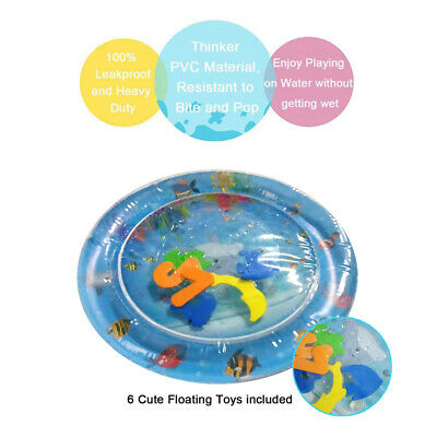 Inflatable Water Play Mat Infants Toddlers Baby Fun Tummy Time Activity Center