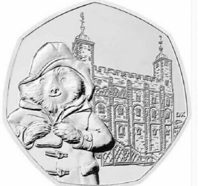 2019 PADDINGTON BEAR AT THE TOWER OF LONDON 50p BUNC Fifty Pence Coin
