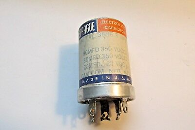 Sprague 30mfd 350 vdc can com.neg.6434 capacitor  FREE SHIPPING