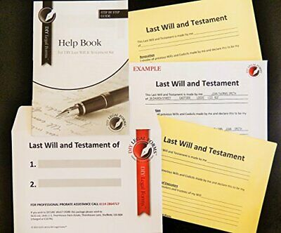 Last Will and Testament Kit, Super Value, 2019 Edition, Simple to do, Allows up,