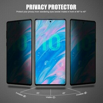 PRIVACY + FULL Glass Screen Protector Anti-Spy for SAMSUNG NOTE 8 9 10 10+ PLUS