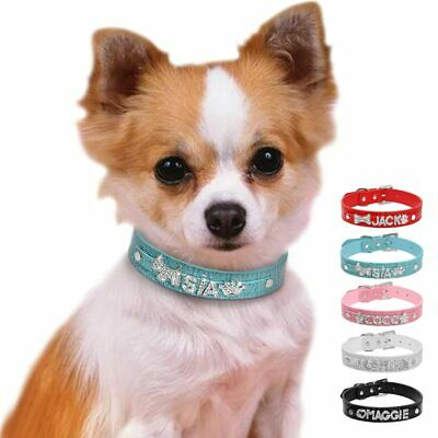 Personalized Dog Collars Croc Leather Dogs Cat Collar Customized Pet Collars Fre
