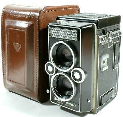 Rollei magic TLR Film Camera Xenar 75mm f3.5 Lens with Case UK Fast Post