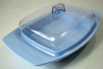 Retro blue 70s Hollywood Tamco melamine butter dish bessemer