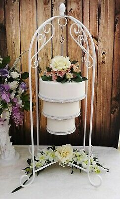 40 Inch Tall White Hanging Wedding Cake Stand