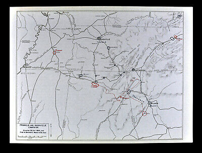 West Point Civil War Map Nashville Franklin Chattanooga Atlanta Battles Sherman