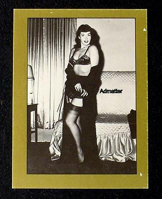 Bettie Page Vintage Pin-Up Trading Card Sexy Fishnets & Lingerie Photo Pinup Art