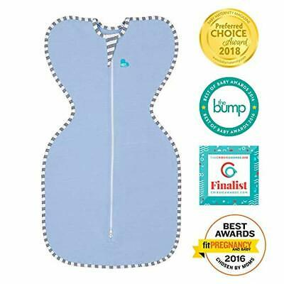 Love To Dream Swaddle UP, Blue, Small, 7-13 lbs, Dramatically Better Sleep, Allo